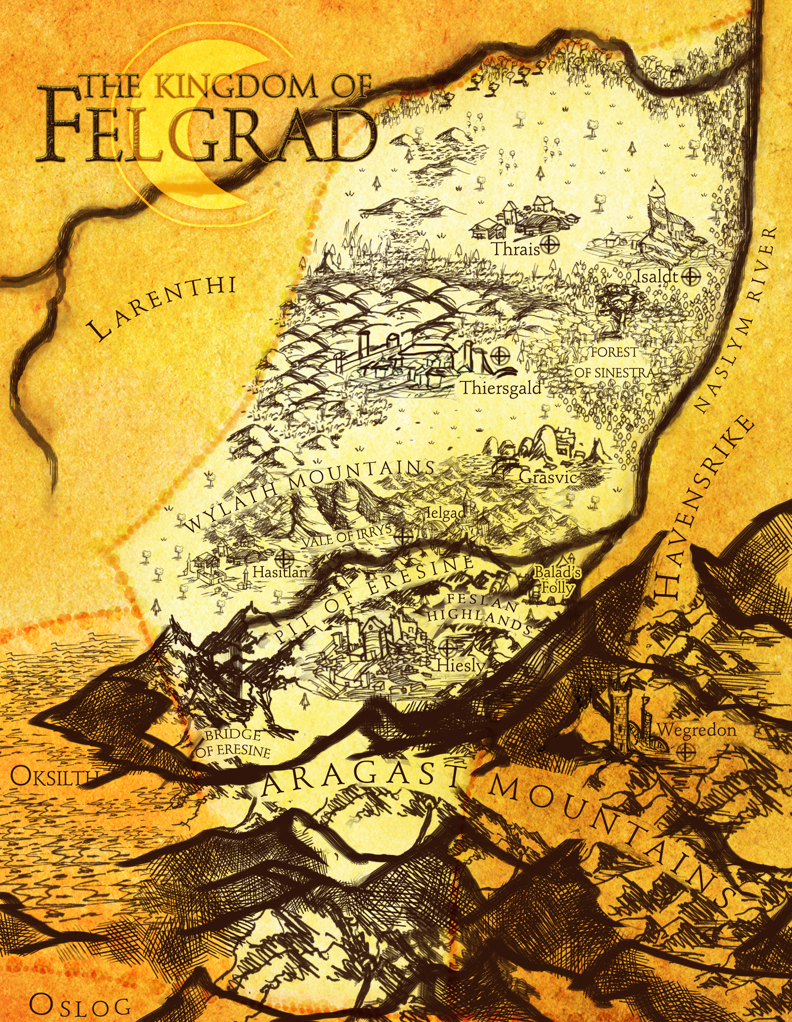 Map of Felgrad